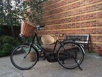 Ladies retro style bike from Made .com with Pashley basket