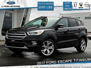 2017 Ford Escape TITANIUM**AWD*CUIR*GPS*TOIT*CAMERA*BLUETOOTH**