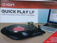 ION QUICK PLAY LP - USB Powered LP to MP3 turntable