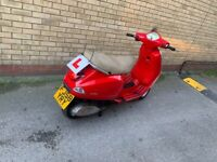 Piaggio, VESPA Lx 125ie reg as 50cc 2008,