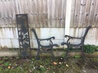 Very Unusual Lions Cast Iron Garden Bench