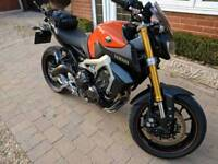 Perfect condition, Yamaha MT09 ABS, FSH, 4450 miles 900cc naked motorcycle motorbike