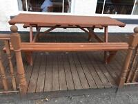 Wooden bench seats 10