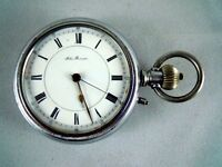 RARE ANTIQUE JOHN BENSON POCKET WATCH WITH STEAM TRAIN ENGRAVED AND WORKING