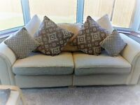 Harveys cream 3 Seater sofa, unmarked, as new