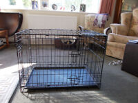 MEDIUM FOLDING TWO DOOR DOG CRATE/CAGE