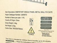 Baby start single panel metal gate