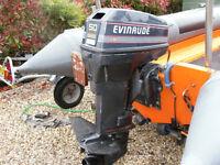 Evinrude 50HP outboard motor.