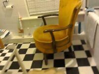 Vintage shabby chic velvet covered chair