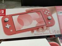 Nintendo Lite coral