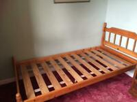 URGENT CAN DELIVER Single bed frame, mattress, mat. topper, mat. protector, duvet, pillow, bedding
