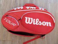 Brand new - Wilson Mini tour 6 racket bag - Red