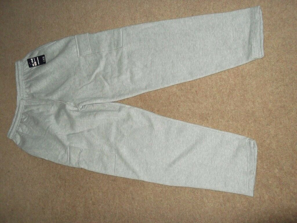cargo style joggers as new with packaging and labels as new light grey colour,size large