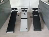 Choice of 4 sit up benches £20-£30. Read full advert more equipment available