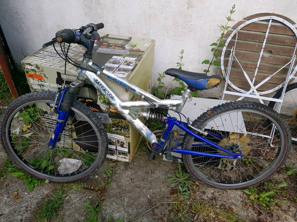 Bracuda slam dunk Mountain Bikein Ipswich, SuffolkGumtree - Mountain bike Lightweight AlloyNerds a bit of TLC but too good to dump!Brakes cables my need greasing chain oiling and tyres pumping up to make it ok again!Buy it for less than the price of a new tyre!!