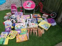 Assorted Toys - Barbie, Angelina Ballerina Frozen Books Scooter Toy Dyson, Sofia The First, Jigsaws.