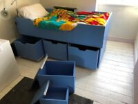 Bespoke child's bed with storage drawers and step. Professionally made. Mattress included if wanted.