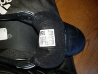 New black leather gazelle trainers size 9