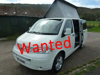 Wanted, VW T5 Camper or good T4 Camper in good condition.