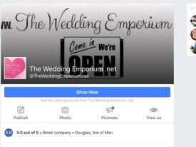 Weddiñg dress business for sale. Inlcludes all stock, web page & online business