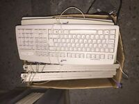 Computer wired keyboards job lot
