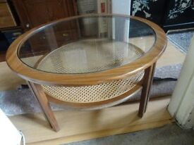 Beautiful glass topped vintage G Plan coffee table