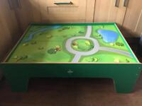 Wooden train table ideal for Thomas train