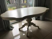 Cream antique dining table