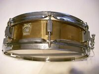 "Ludwig LB553 seamless bronze piccolo snare drum - 13 x 3"" - early Monroe - '80s"