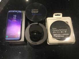 SAMSUNG GALAXY S8+ orchid grey 64GB SMART WATCH NOW SOLD