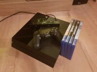 PS4 500Gb with controller, camera, BF1, BF4, GTA5, FIFA14
