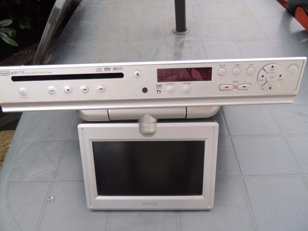 Kitchen Dvd Player ~ Silvercrest kdt flip down kitchen dvb t tv dvd player