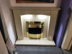 Brand new fireplace.