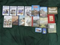 Bundle of hardback books, Repair manual, Britain touring books, Nature.