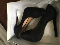 Brand new in box Topshop black high heels size 4
