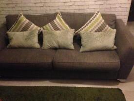 3 seater settee and swivel chair