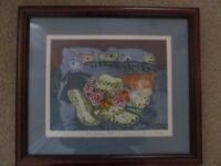 The Wedding Hat by Sheila Horton hand coloured framed print signed by the artist