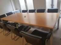 High Quality Rectangle Wood Finish Boardroom/Conference/Office/Meeting Table seats 12