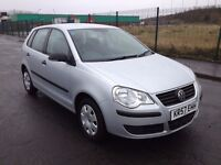 (57)Volkswagen POLO 1.2 , mot - December 2017, only 43,000 miles,full history 8 stamps ,fiesta,corsa