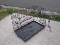Metal Dog Car Crate