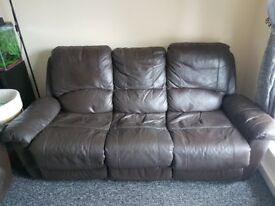 Leather sofas 2+3 recliners