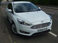 Ford Focus 1.5 EcoBoost 182 Titanium X Navigation Petrol White & Service Pack **TOP SPEC & FAST**!!