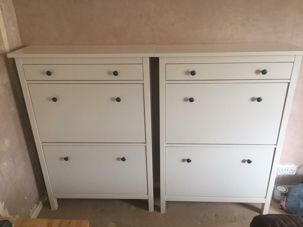 ikea hemnes shoe cabinet white x2 in nailsea bristol gumtree. Black Bedroom Furniture Sets. Home Design Ideas