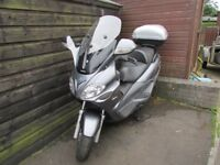 PIAGGIO X9 EVOLUTION 250 cc ONE YEARS MOT VERY GOOD CONDITION CARRIER & TOP BOX FITTED AND OTHERS,