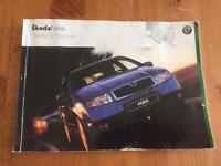 Skoda Fabia / skoda owners Manual/ book