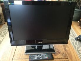 19 inch tv monitor and control box