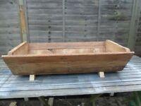 XLarge Hand Made Rustic Wooden Garden Trough