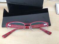Brand new Christian Dior red glasses frames