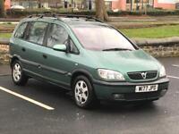 2000 (W) VAUXHALL ZAFIRA 2.0i ELEGANCE 16V - MPV 5 Doors - DIESEL - Manual - GREEN *7 SEATS / MOT*