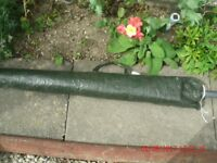 Garden parasol with pottery weight & waterproof carry bag